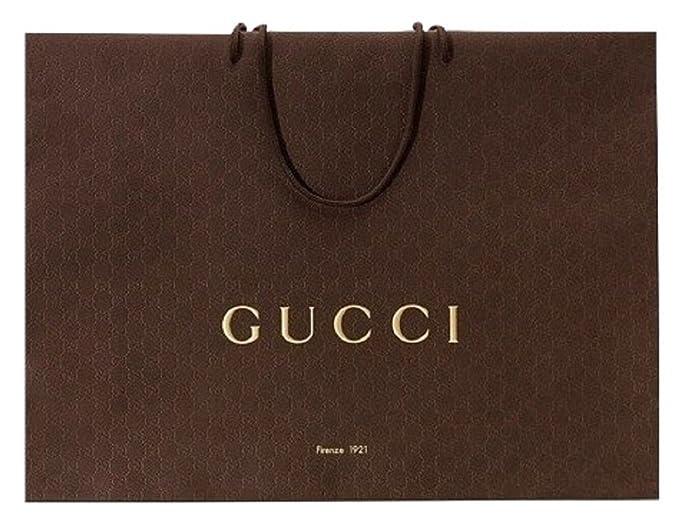 Gucci® bolsas de papel de regalo, tamaño: 9 x 6 5/8 x 3 3/4 ...