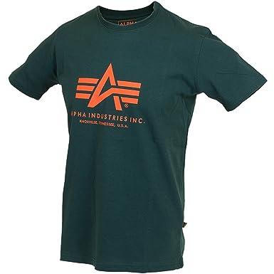 ALPHA INDUSTRIES - Camiseta - Cuello Redondo - para Hombre Dark ...