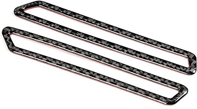 2 pezzi di copertura del pannello di uscita dello sfiato A-Pillar in fibra di carbonio adatti per Giulia 17-19 Qii lu Pannello di sfiato