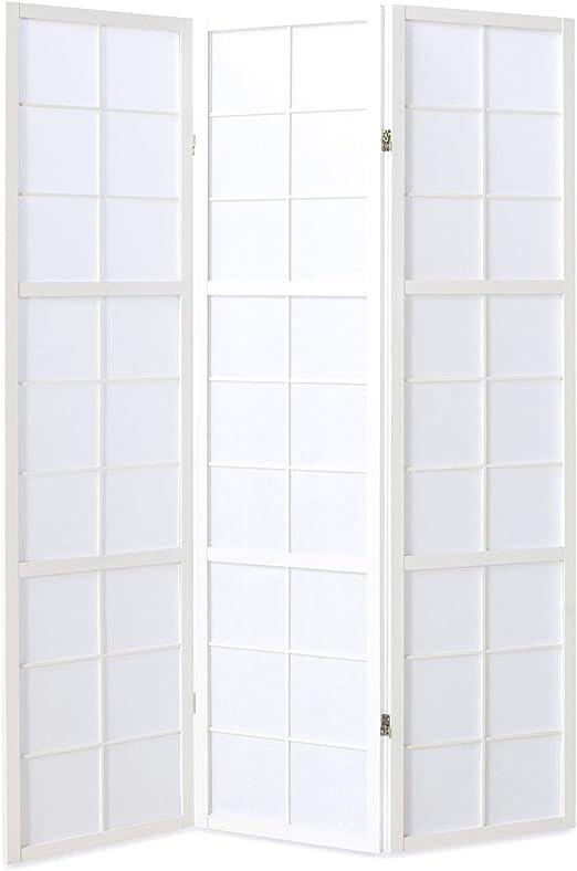 3fach Paravent Raumteiler Lamellen Deko Trennwand Sichtschutz natur Homestyle4u