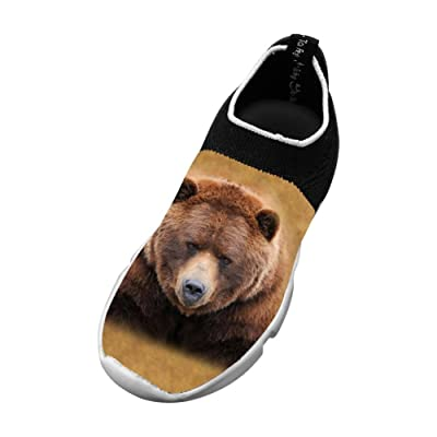 Bear Fashion Fly Knit Shoes Boy Casual Sports Sneakers