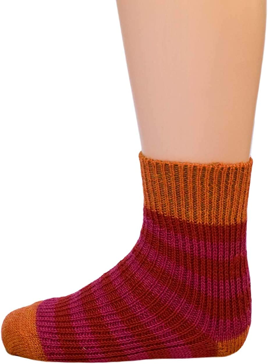 Striped Socks for Babies and Children Hirsch Natur 100/% Organic Wool