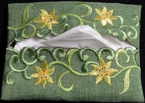 Pocket Tissue Holder in a Daffodil Davina Design by Justina Claire