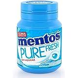 Garrafa Goma de Mascar Sem Açúcar Mentos Pure Fresh Mint | 56g - 28 unidades