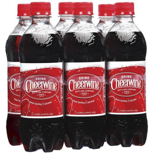 Cheerwine Cherry Soda (6 Pack Plastic Bottles)