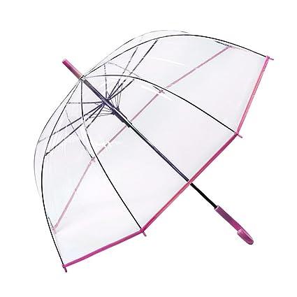 Kaxima Paraguas Transparente, Apolo, Paraguas de Mango Largo, Paraguas enganchado, 84x93cm