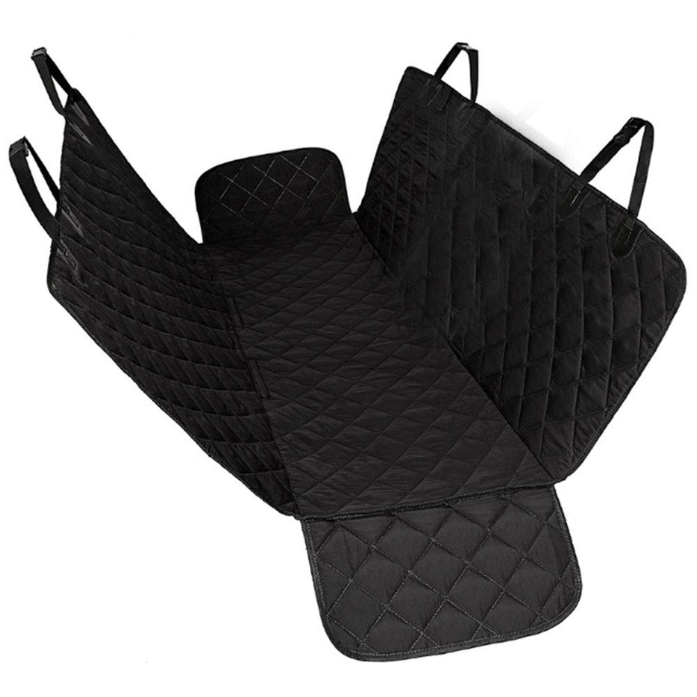 HAOJINFENG Dog Supplies Car Mat Rear Row Waterproof Cotton Pad Car Pet Pad Black Double Side Wing