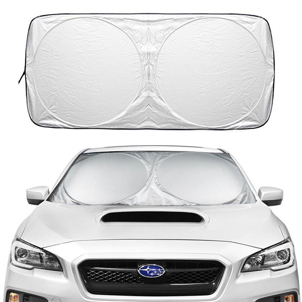 Couverture pare-brise voiture, ikalula Pare-brise Avant les Rayons UV Pare-Brise-Soleil Repliable Nuances de Voiture Être adapté à la plupart des voitures, camions et SUV - 160*86cm