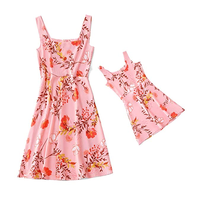 5f31e0fd81824 Amazon.com: Yaffi Mommy and Me Matching Summer Dress Off Shoulder ...