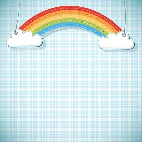 EdCott 6x6ft Rainbow Clouds Custom Telón de Fondo Imágenes ...