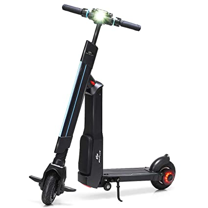 Electric Sit Down Scooter >> Amazon Com Goplus Electric Scooter Foldable Adjustable Kick