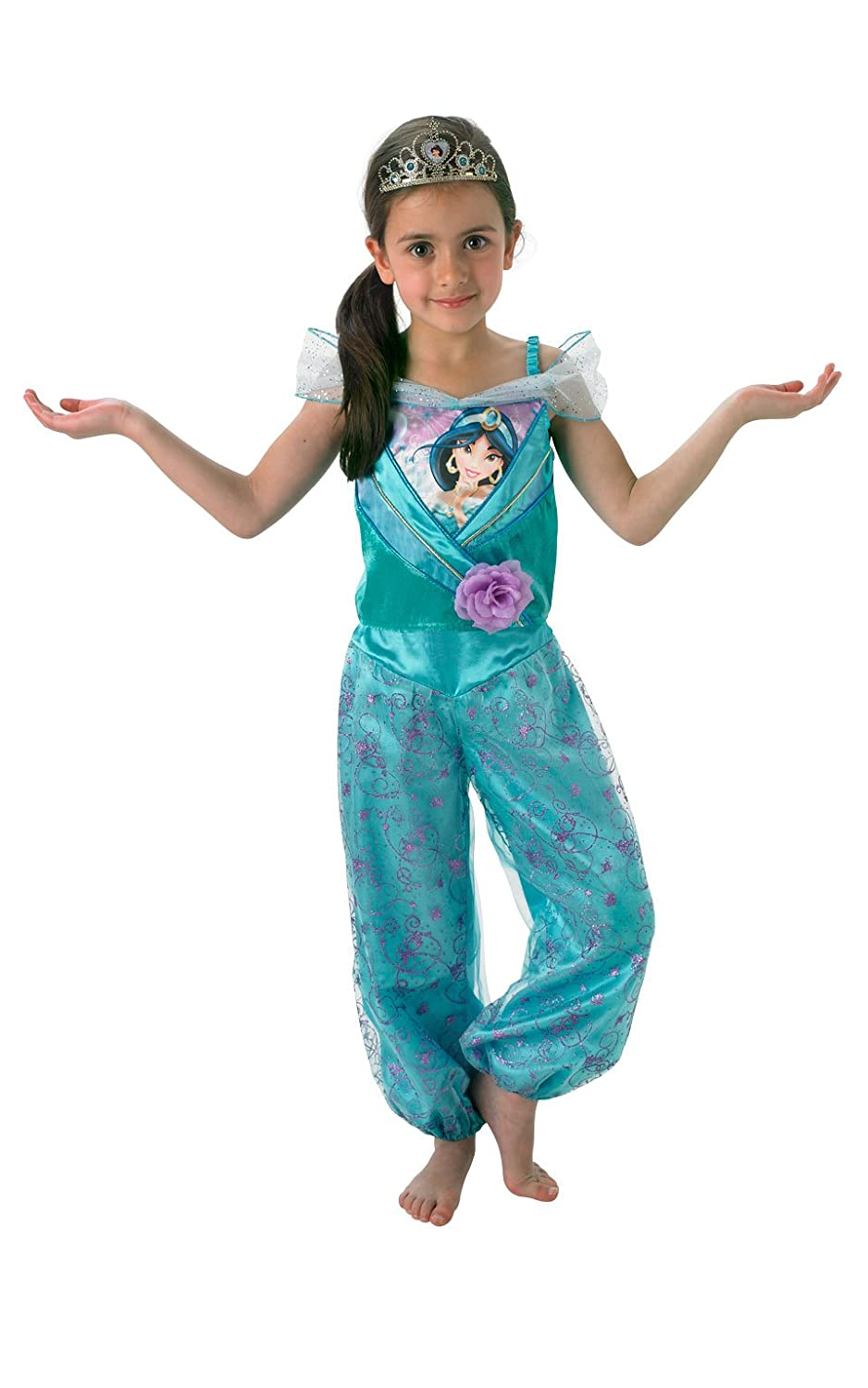Amazon.com DISNEY PRINCESS ~ Jasmine (Shimmer) Deluxe - Kids Costume 5 - 6 years Toys u0026 Games  sc 1 st  Amazon.com & Amazon.com: DISNEY PRINCESS ~ Jasmine (Shimmer) Deluxe - Kids ...