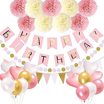 Globo rosa para decoración de cumpleaños para niñas, globo ...