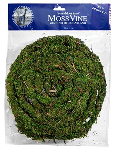 Supermoss 22711) MossVine Garland, Fresh Green, 12ft