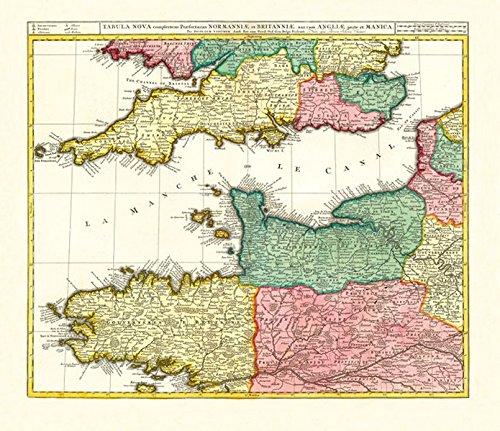 karte frankreich england Historische Karte: Ärmelkanal   südliches England und nördliches