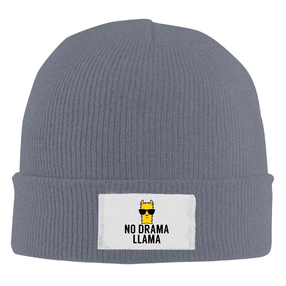 PWLLS Unisex No Cool Drama Llama Wool toboggan Hat Woolen Cap Head Wear Fashion For Outdoor /& Home