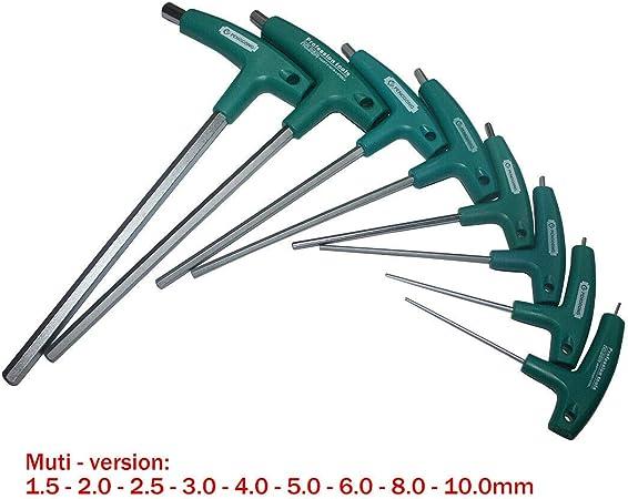 Poignée 2.5-8mm Allen Clé Hexagonale Clé Clé ACIER Intérieur hexagone Clé Outil à main