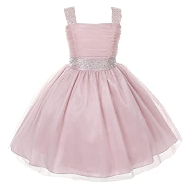 cute cheap free shipping timeless design Amazon.com: Cinderella Couture Big Girls Blush Rhinestone ...