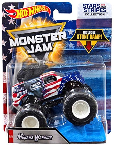 Hot Wheels Monster Jam 2018 Stars and Stripes Mohawk Warrior 1:64 Scale