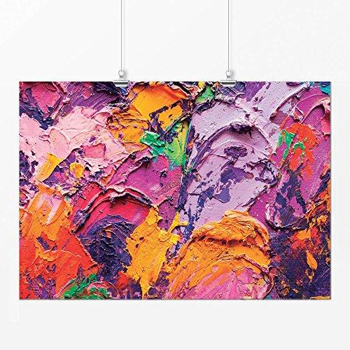 Pôster - Abstrato pintura 2 colorida 21x29cm