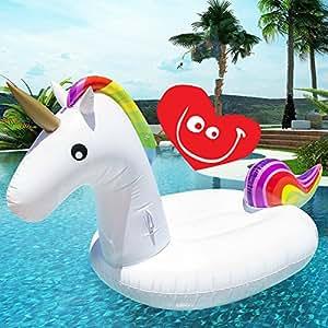 Unicornio hinchable colchonetas sal n de la piscina del for Colchonetas hinchables piscina