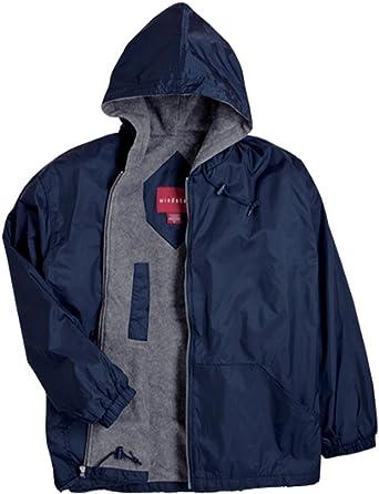 Mens Jacket Zip Up Hooded Ripstop Windbreaker Coat