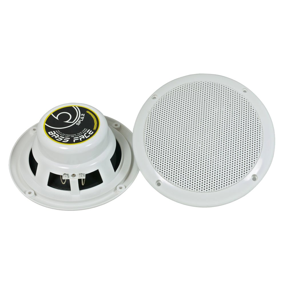 Waterproof ceiling speakers for bathroom - Bass Face Spl6 2 300w 6 5 Inch Marine Waterproof Boat Ceiling Speakers