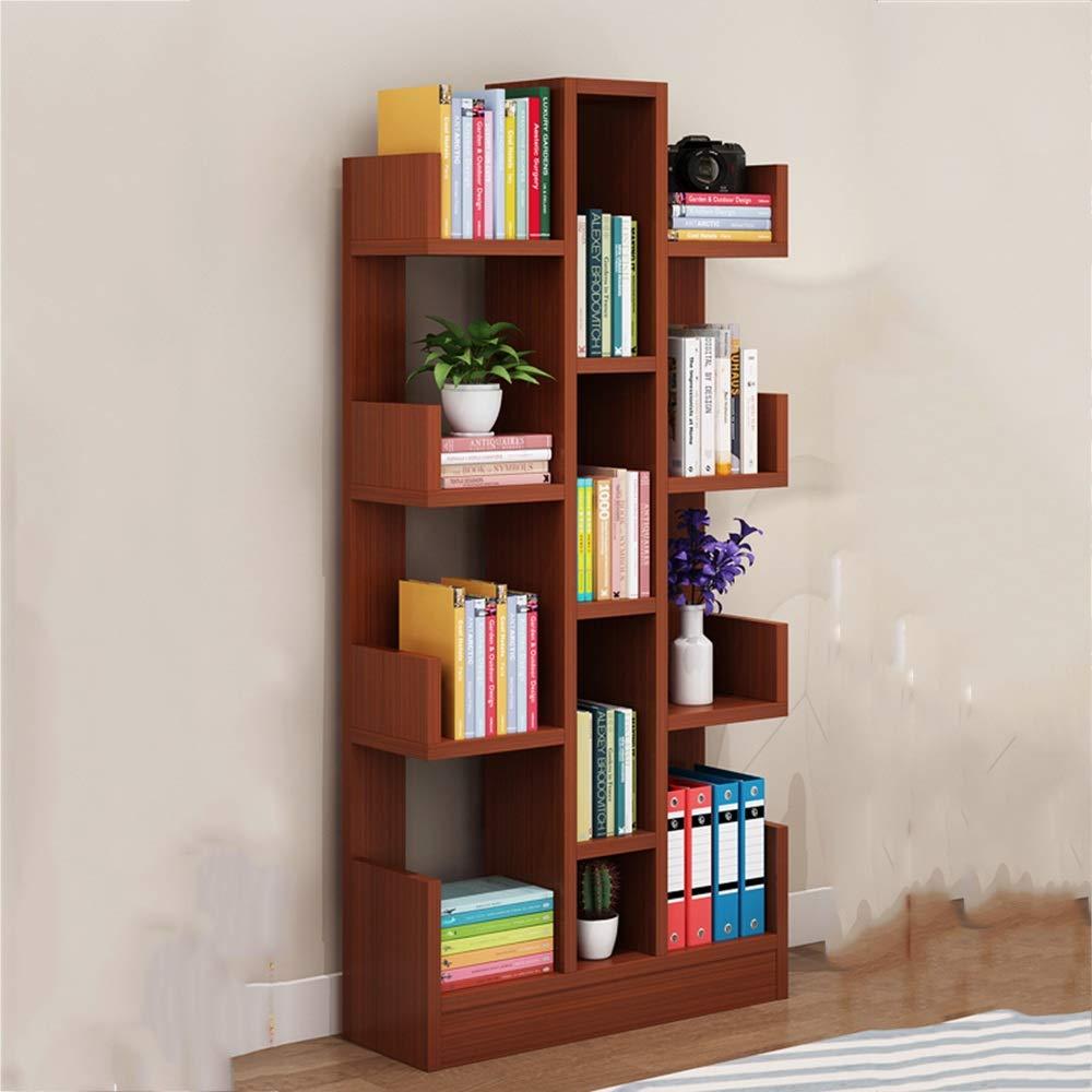 XIA シェルフ 保管ラック ストレージラック シンプルな本棚シェルフのリビングルームシンプルでモダンな子供の学生書棚ベッドルームクリエイティブツリーシェイプランディング (色 : Brown) B07HZ3ZVTC Brown
