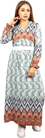 Lacasa Casual Jalabiya Wooded for Women