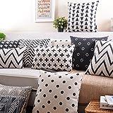 CoolDream-Cotton-Linen-Decorative-Pillowcase-Throw-Pillow-Cushion-Cover-Cross-Pattern-Rectangle-12-20