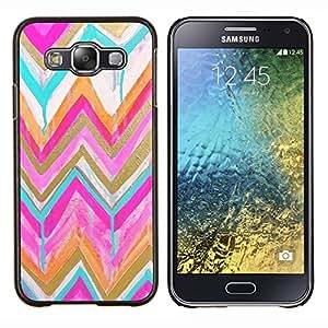 """S-type Modelo del oro rosado de la acuarela"""" - Arte & diseño plástico duro Fundas Cover Cubre Hard Case Cover For Samsung Galaxy E5 E500"""