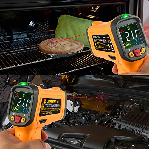 Infrared Thermometer AIDBUCKS PM6530B Digital Laser Non Contact Cooking IR Temperature Gun -58°F to 1022°F with Color Display 12 Points Aperture for Kitchen Food Meat BBQ Automotive and Industrial by AIDBUCKS (Image #5)