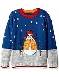Big Boys' Snowman with Hat Xmas Sweater,