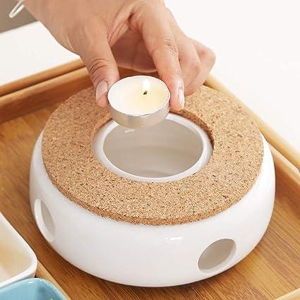 Hornillo de porcelana, la calefacción está hecha de cerámica, mantiene el té y el café caliente, calienta el té, para diferentes teteras