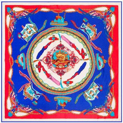 Amazon.com: ForShop Twill Silk Scarf Women China Dragon Fly ...