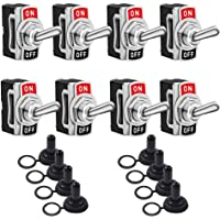 Toggle Switches 8 Pack 2 Pin ON Off SPST Car Rocker Toggle Switches,15A 250V 20A 125V Switch Metal Bat,Heavy Duty with Waterproof Boot Cap€¦