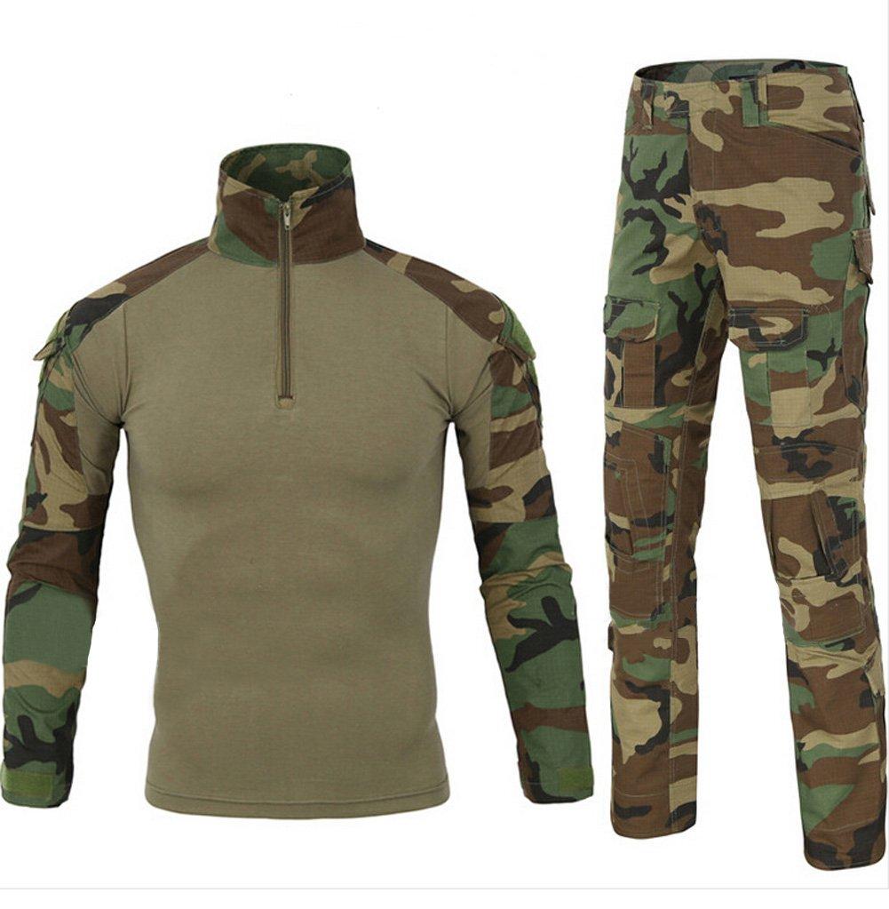 Be Dreamer Military BDU Uniform Tactical Combat Training Suit,Jungle,L