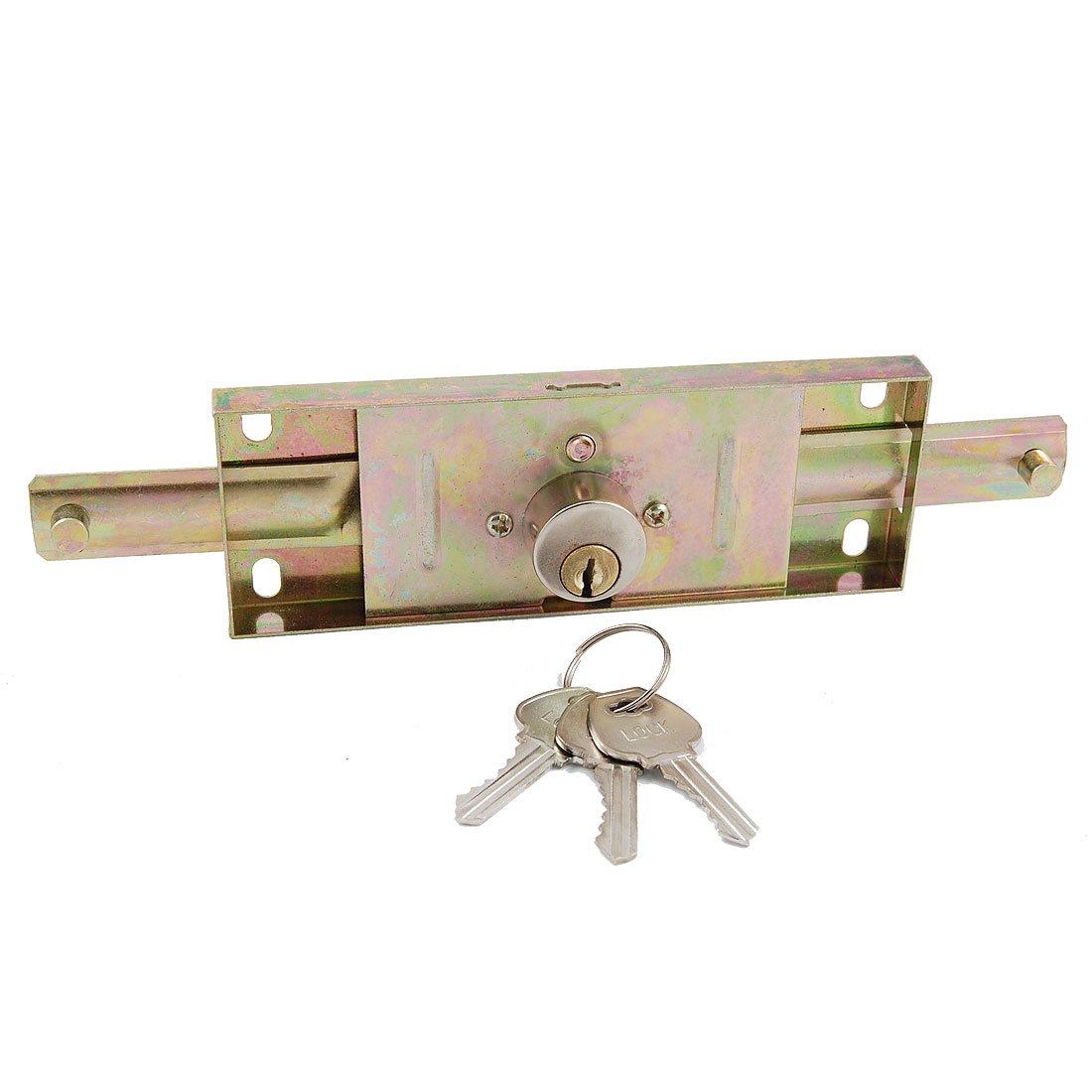 uxcell Warehouse Garage Vertical Keyway Metal Rolling Gate Door Lock 1Sets
