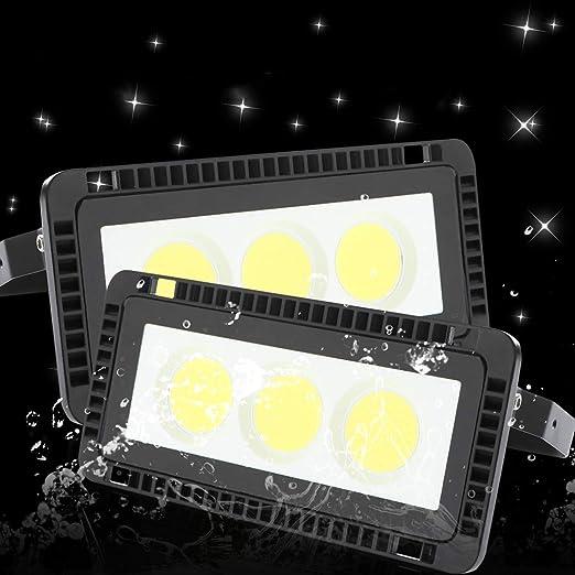Pack 2x 50W Foco LED Exterior 6500K Blanco frío LED Foco Floodlight IP65 Impermeable Iluminación luz de seguridad LED Exterior para jardín garaje camino [Clase de eficiencia energética A+]: Amazon.es: Iluminación