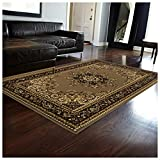 Superior Leopold Collection 8′ x 10′ Area Rug, Attractive Rug with Jute Backing, Durable and Beautiful Woven Structure, Oriental Medallion Rug with Detailed Border For Sale