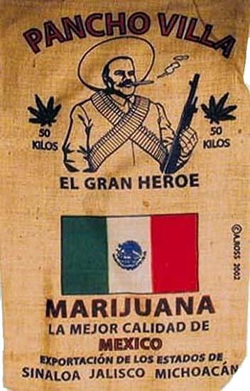 Pancho Villa Mexican Brand New Novelty Storage Or Home Decor Burlap Bag