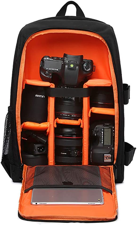 Mirrorless Camera ALRY Camera Bag Waterproof Shockproof Partition 11X6x14 Inches Protection Backpack for SLR DSLR Lens Flash Battery