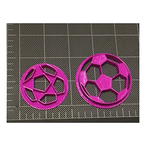 Soccer ball Cookie Cutter / Soccerball Fondant Cutter / Soccerball Topper - PLA plastic material (2 inch) by Unknown
