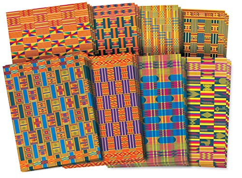 (Roylco Assorted Design African Textile Paper, 8-1/2 x 11 Inches, Pack of 32)