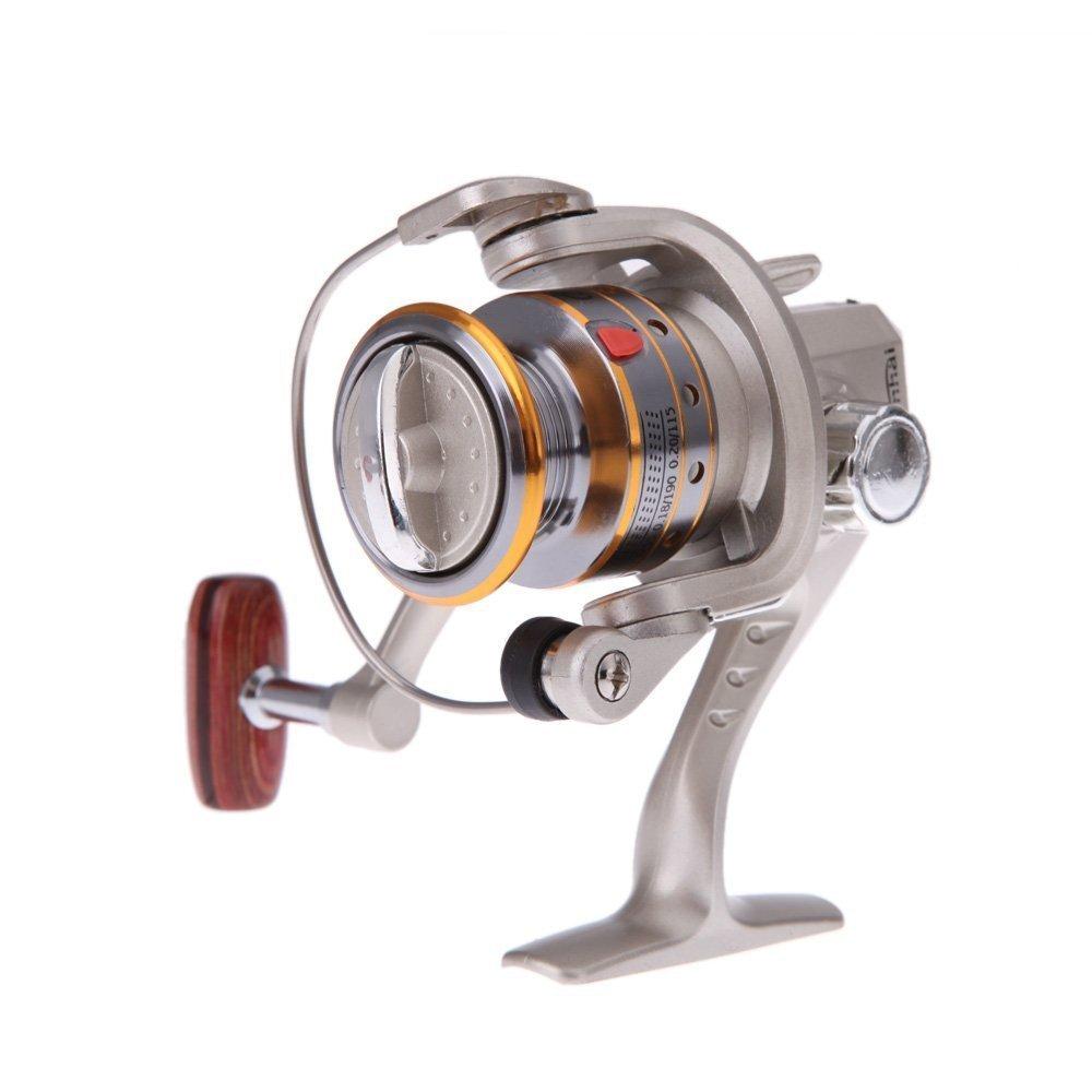 BUYEONLINE 6Bb Ball Bearings High Power Gear Spinning Spool Aluminum Fishing Reel Sg1000 Silver