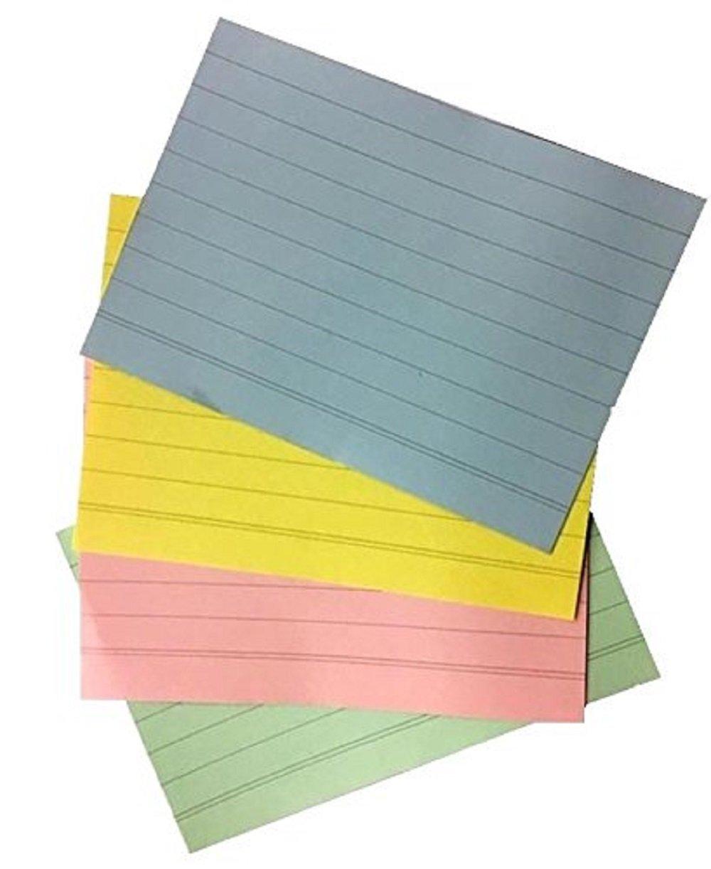 Dalton Manor 128mm x 76mm Ruled record Index revisione spot Cards, 200pezzi in 4colori pastello
