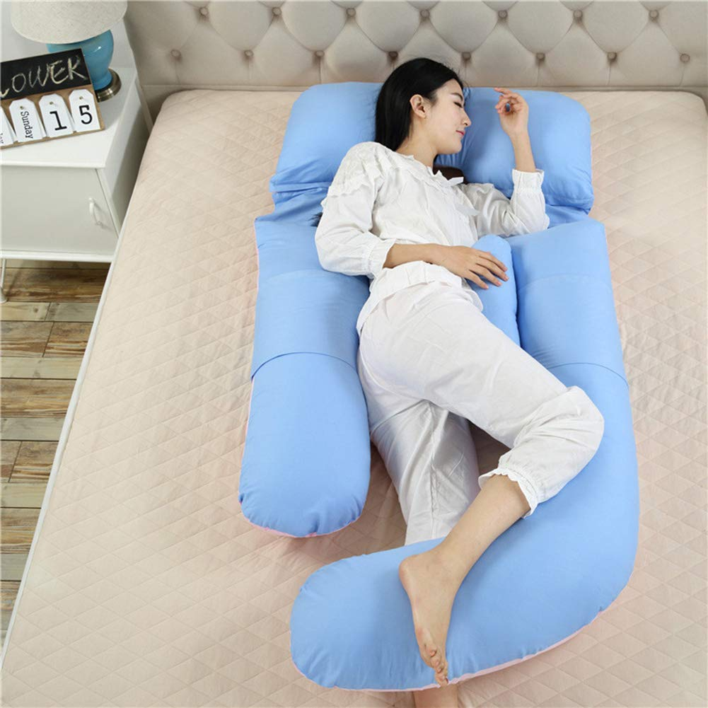代引き人気 妊娠中の女性の枕コットンウエストサイドスリーピングピロー多機能U字型ピロー取り外し可能および洗えるソフトコンフォート180* Blue 75 cm大きいサイズ,Purple B07QXSFLWM Blue Blue 75 Blue, PROHANDS ショップ:0e5fa836 --- arianechie.dominiotemporario.com
