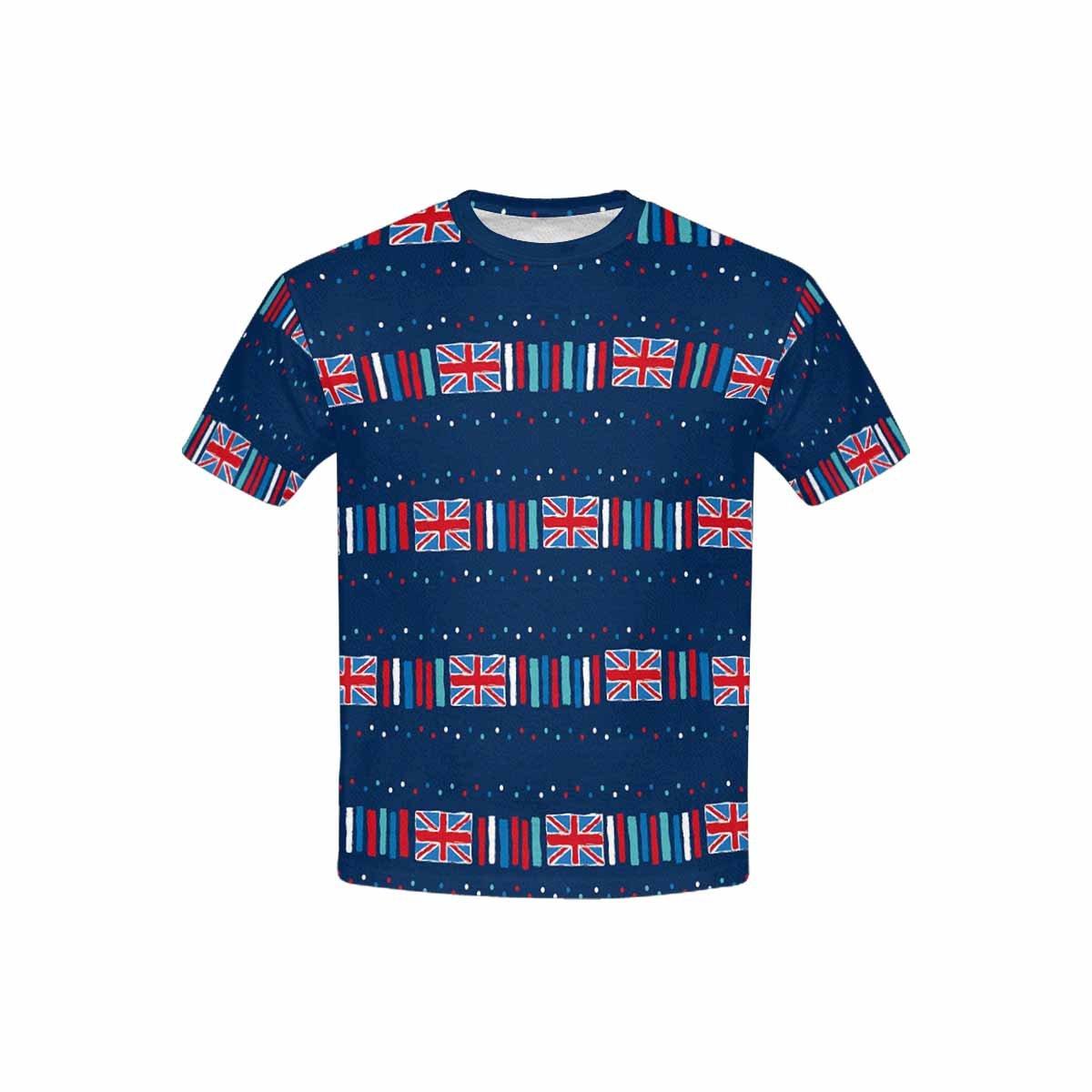 XS-XL INTERESTPRINT Childs T-Shirt Union Jack Dash