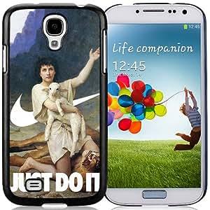 Hot Sale Samsung Galaxy S4 i9500 Cover Case ,The Shepherd David Elizabeth Jane Gardner Swooshart Black Samsung Galaxy S4 i9500 Phone Case Unique And Fashion Design