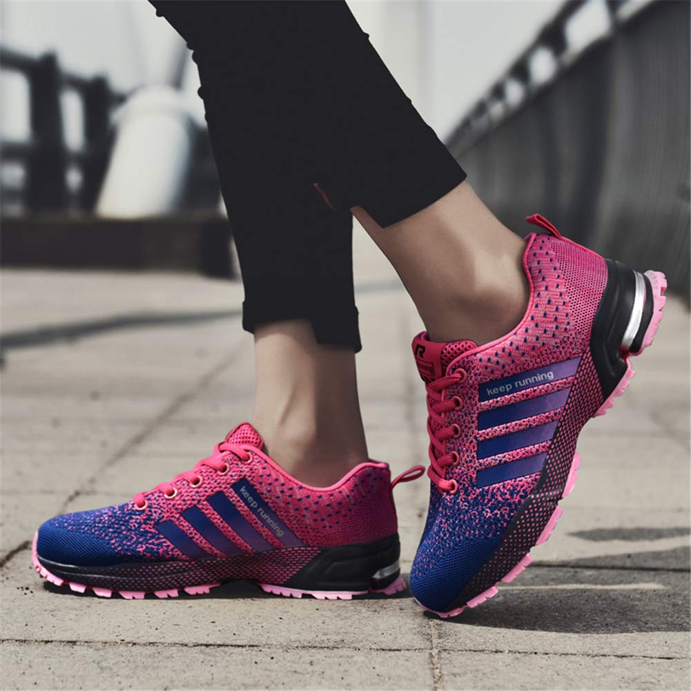 KUBUA Womens Running Shoes Trail Fashion Sneakers Tennis Sports Casual Walking Athletic Fitness Indoor and Outdoor Shoes for Women 5 B / 4 D F Purple by KUBUA (Image #7)